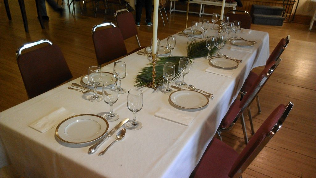 Maundy Thursday table setting