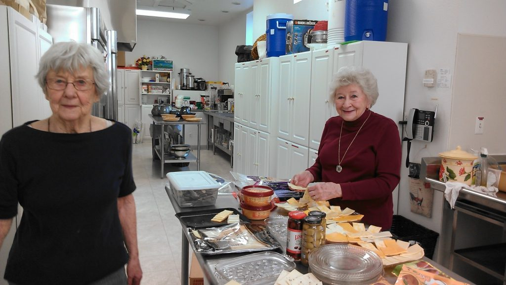 Rosemary and Bobbie in kitchen